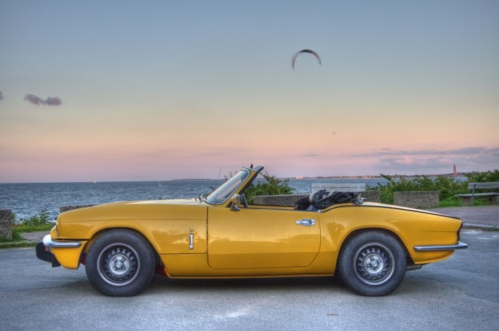 My Triumph Spitfire MKIV 1500 at the baltic sea side view