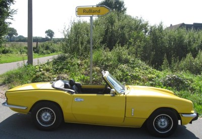 Far far away with my My Triumph Spitfire MKIV 1500