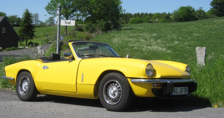 Up in the hill with my Triumph Spitfire MKIV 1500